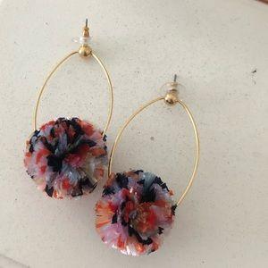 jcrew pom pom earrings